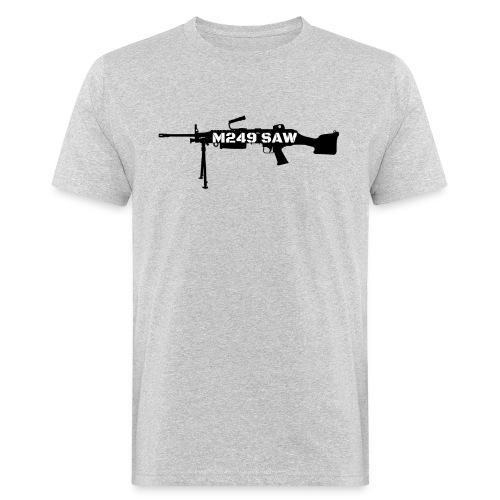 M249 SAW light machinegun design - Mannen Bio-T-shirt