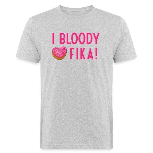 I bloody love fika with donut - Miesten luonnonmukainen t-paita