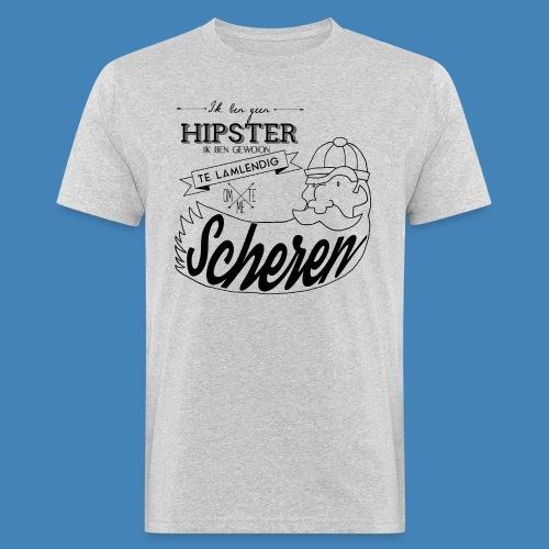 Ik ben geen hipster - Mannen Bio-T-shirt