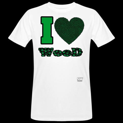 I Love weed - T-shirt bio Homme