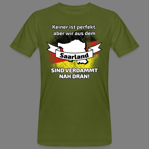 Perfekt Saarland - Männer Bio-T-Shirt