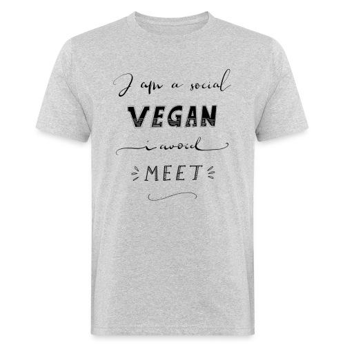 Social Vegan - Männer Bio-T-Shirt
