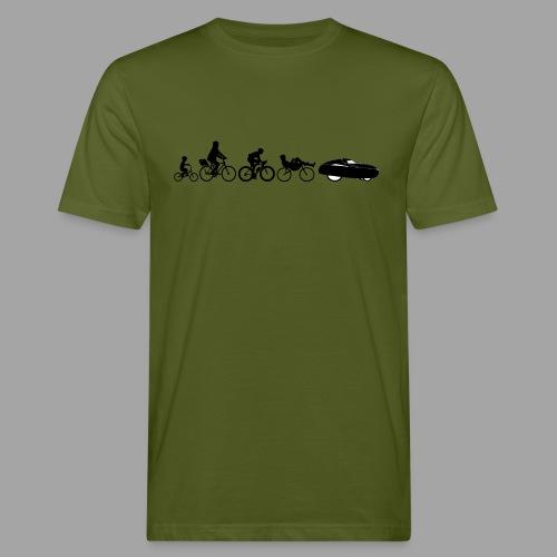 Bicycle evolution black - Miesten luonnonmukainen t-paita