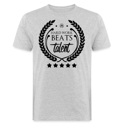 HARD WORK BEATS TALENT - Ekologiczna koszulka męska
