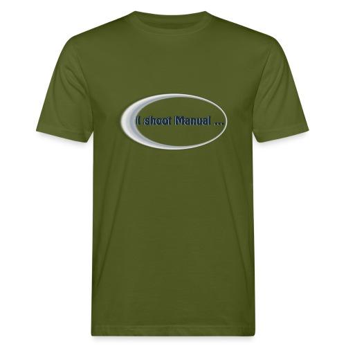 I shoot manual slogan - Men's Organic T-Shirt