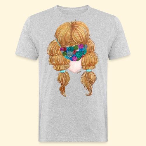 Fille masquée aux succulentes - T-shirt bio Homme