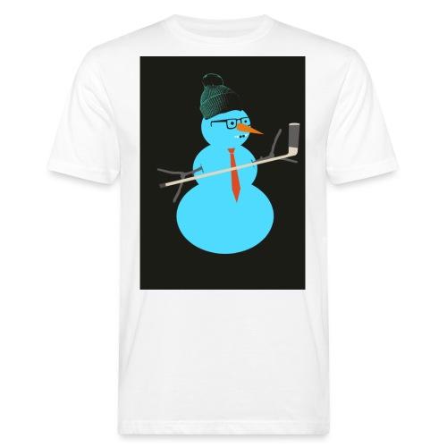 Hockey snowman - Miesten luonnonmukainen t-paita
