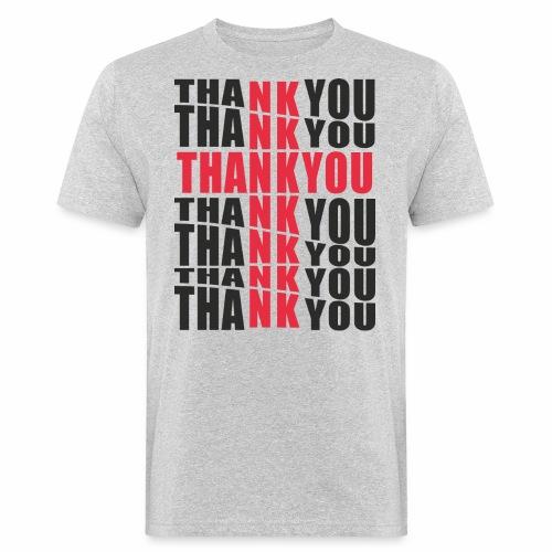 Motyw z napisem Thank You - Ekologiczna koszulka męska