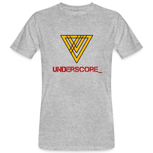 Underscore Yellow Red - Men's Organic T-Shirt