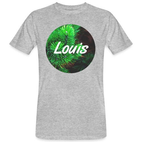 Louis round-logo - Männer Bio-T-Shirt