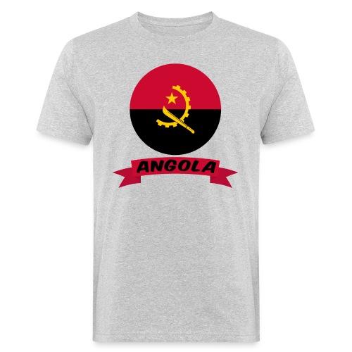 flag of Angola t shirt design ribbon banner - T-shirt ecologica da uomo