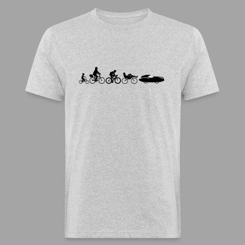 Bicycle evolution black Quattrovelo - Miesten luonnonmukainen t-paita