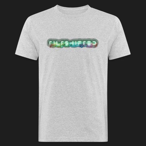 TiltShifted Logo on Black - Miesten luonnonmukainen t-paita