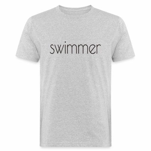 swimmer text - Männer Bio-T-Shirt