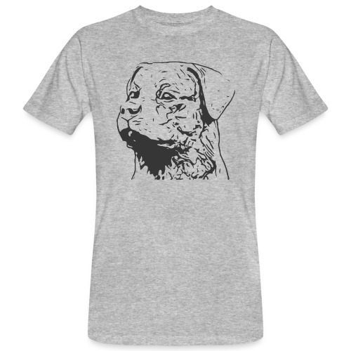 Rottweiler Portrait Grafik schwarz - Männer Bio-T-Shirt