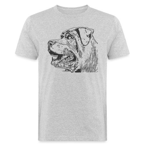 Rottweiler Mund offen schwarz - Männer Bio-T-Shirt
