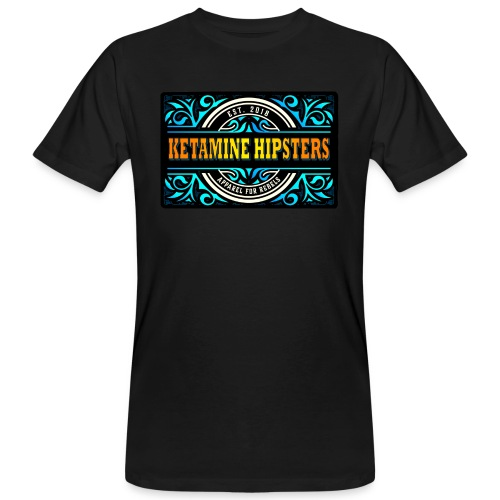 Black Vintage - KETAMINE HIPSTERS Apparel - Men's Organic T-Shirt