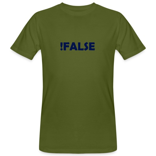 !False - Männer Bio-T-Shirt