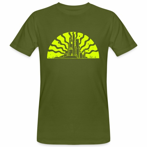Fairytale Castle Sunrise - Männer Bio-T-Shirt