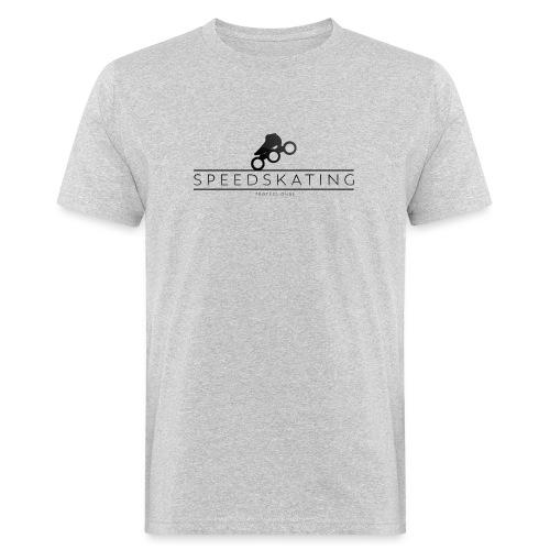 Speedskating Professional Black - Männer Bio-T-Shirt