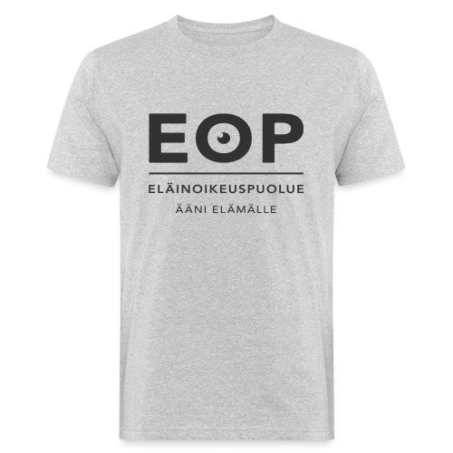 EOP Logo slogan musta - Miesten luonnonmukainen t-paita