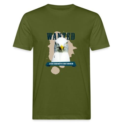 WANTED - Fischbrötchendieb - Männer Bio-T-Shirt