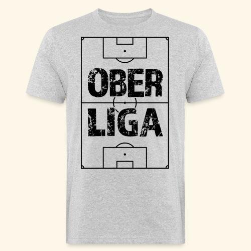 OBERLIGA im Fußballfeld - Männer Bio-T-Shirt