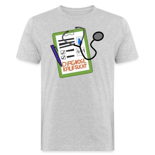Diagnose Kaufsucht Klemmbrett - Männer Bio-T-Shirt