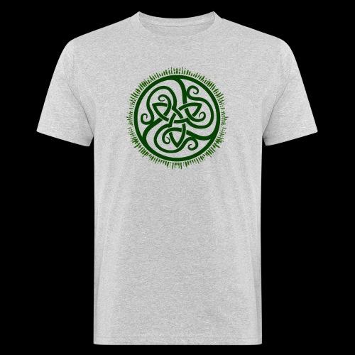 Green Celtic Triknot - Men's Organic T-Shirt