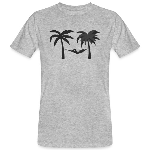 Hängematte mitzwischen Palmen - Männer Bio-T-Shirt