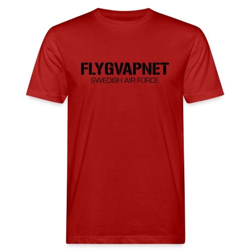 FLYGVAPNET - SWEDISH AIR FORCE - Ekologisk T-shirt herr