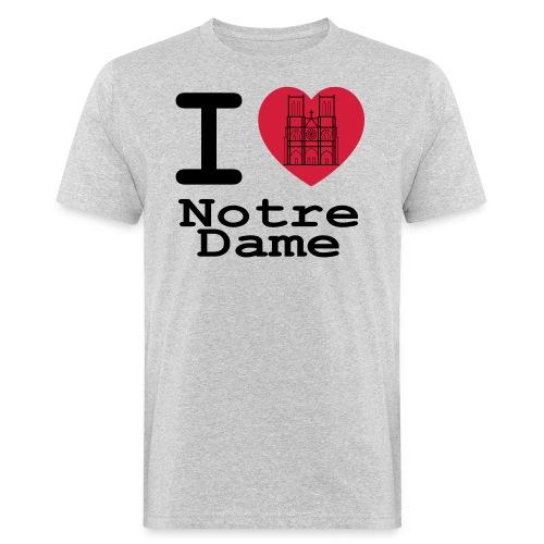 I love Notre Dame - Mannen Bio-T-shirt