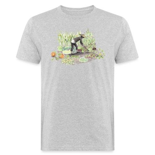Auf dem Acker Schmal – Handgezeichnet - Männer Bio-T-Shirt