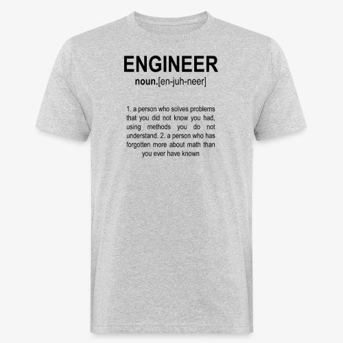 Engineer Def. 2 Black - T-shirt bio Homme