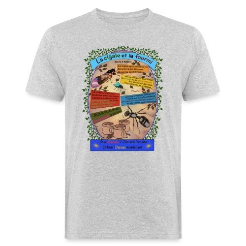 La Cigale et la Fourmi (Jean de la Fontaine) - Männer Bio-T-Shirt