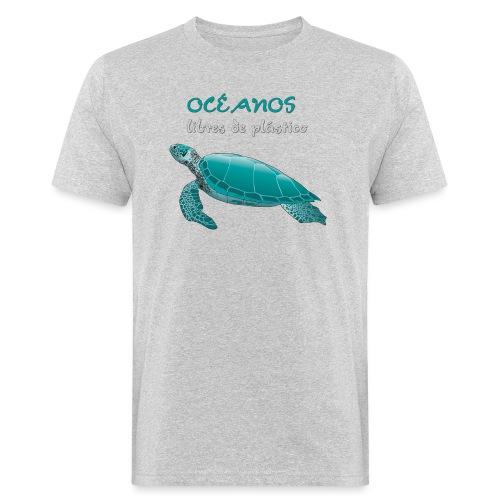 Océanos libres de plástico - Camiseta ecológica hombre
