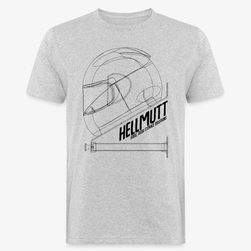 HellMutt Wireframe Side - Men's Organic T-Shirt