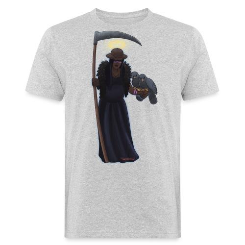 Malaria falciparum - schwarze Dame mit Sichel - Männer Bio-T-Shirt