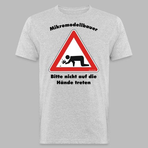 Mikromodell Warnschild Hände - Männer Bio-T-Shirt