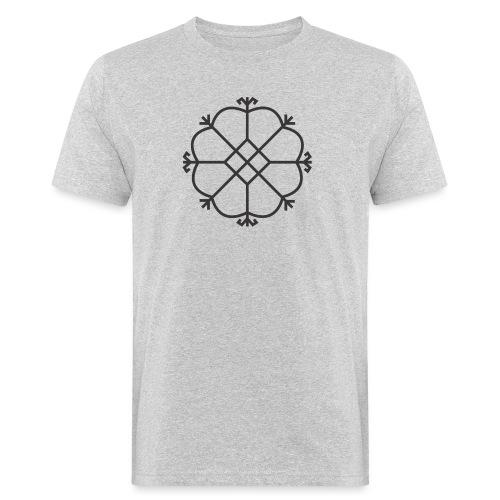 Aurinko, musta - Miesten luonnonmukainen t-paita