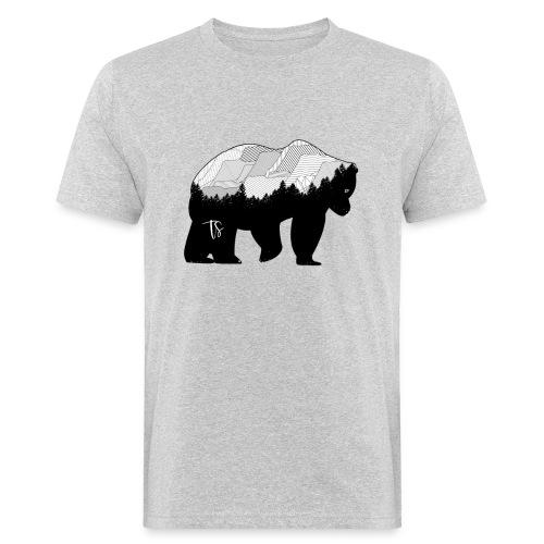 Geometric Mountain Bear - T-shirt ecologica da uomo