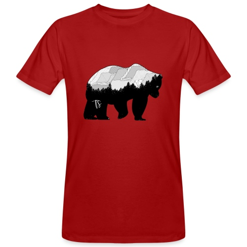 Geometric Mountain Bear - T-shirt ecologica da uomo