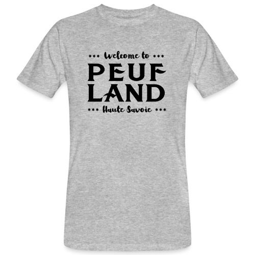 Peuf Land 74 - Black - T-shirt bio Homme