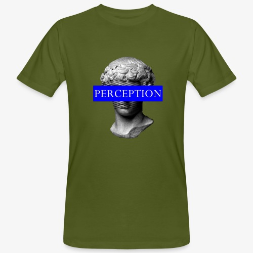 TETE GRECQ BLUE - PERCEPTION CLOTHING - T-shirt bio Homme