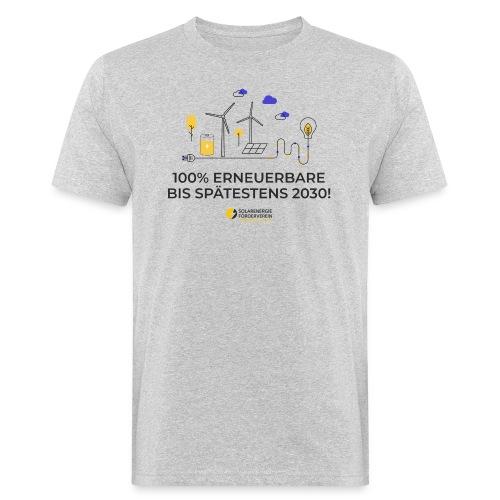 100% Erneuerbare 2030 - Männer Bio-T-Shirt