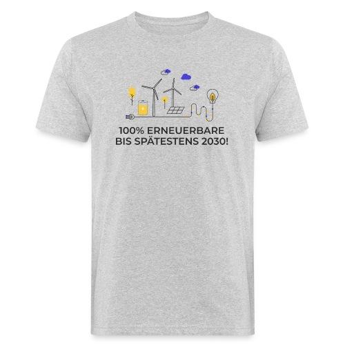 100% Erneuerbare 2030 2 - Männer Bio-T-Shirt