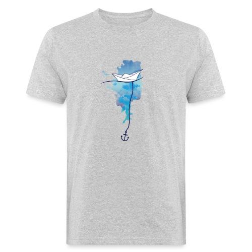 Papierschiff - Männer Bio-T-Shirt