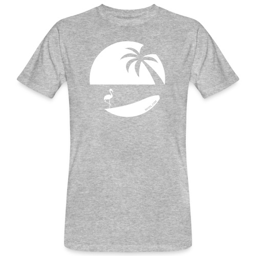 Logo French Floridian blanc - T-shirt bio Homme