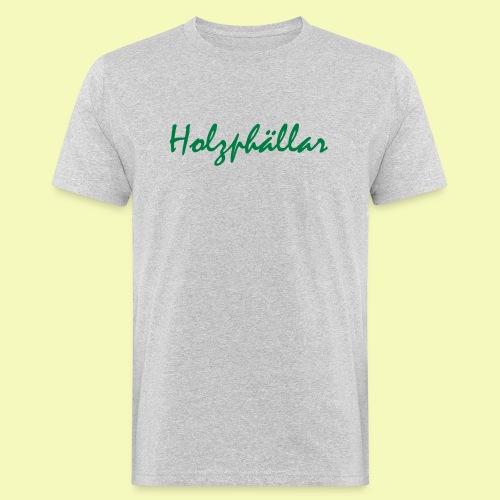 Schriftzug Grün - Männer Bio-T-Shirt