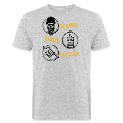 Beards Booze Tattoos Fathers Day Gift - Männer Bio-T-Shirt
